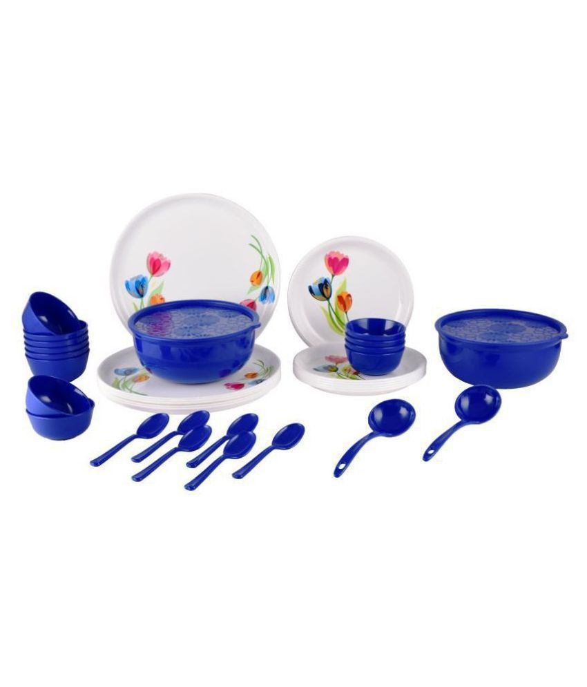 Homray Exotic Printed Plastic Dinner Set of 36 Pieces