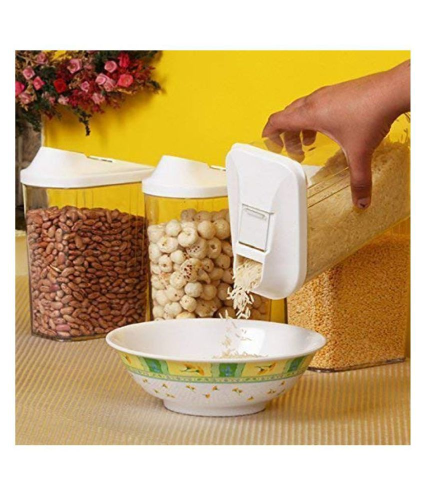 Teneza Easy Flow Kitchen Polyproplene Food Container Set of 3 750 mL