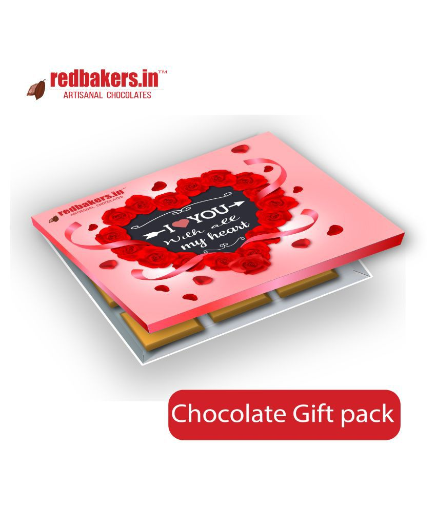 redbakers.in Chocolate Box ILoveU withallmyheart BelgianGiftpack 150 gm
