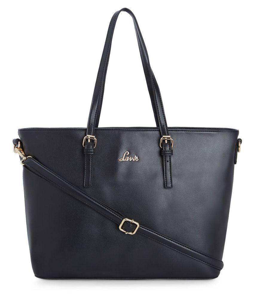 Lavie Black P.U. Tote Bag