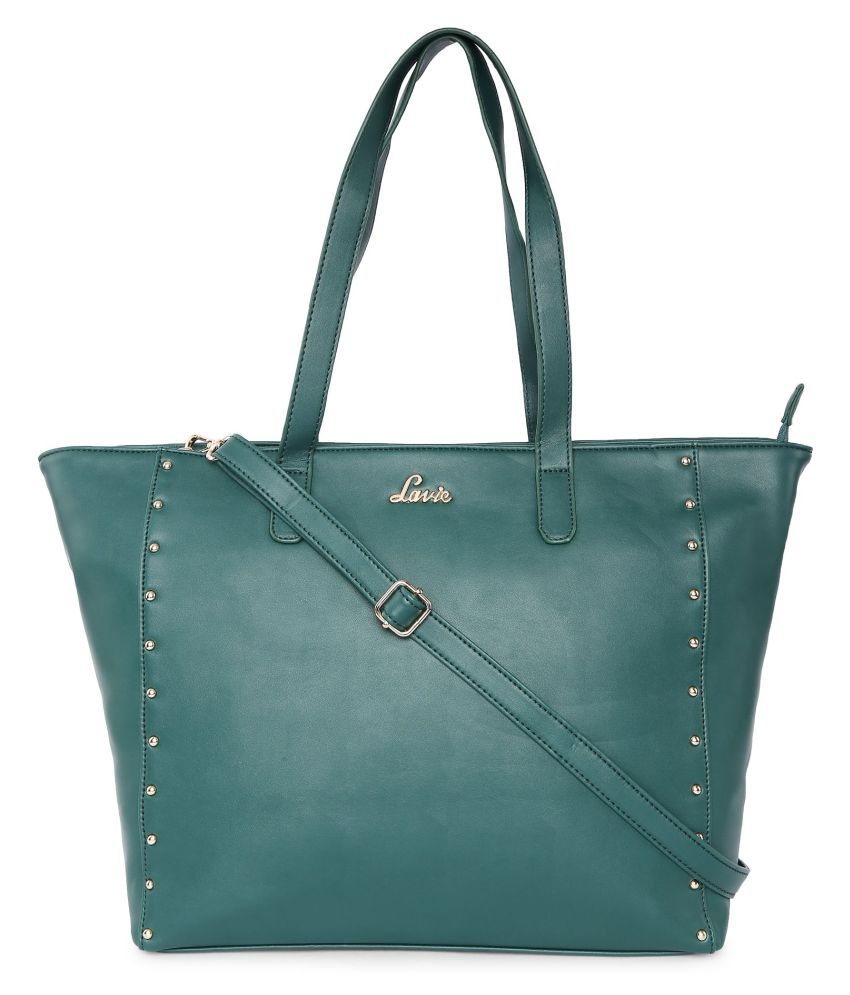 Lavie Green P.U. Tote Bag