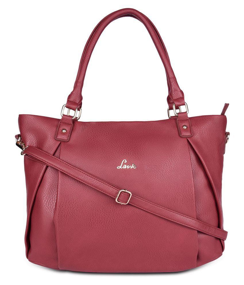 Lavie Red P.U. Tote Bag