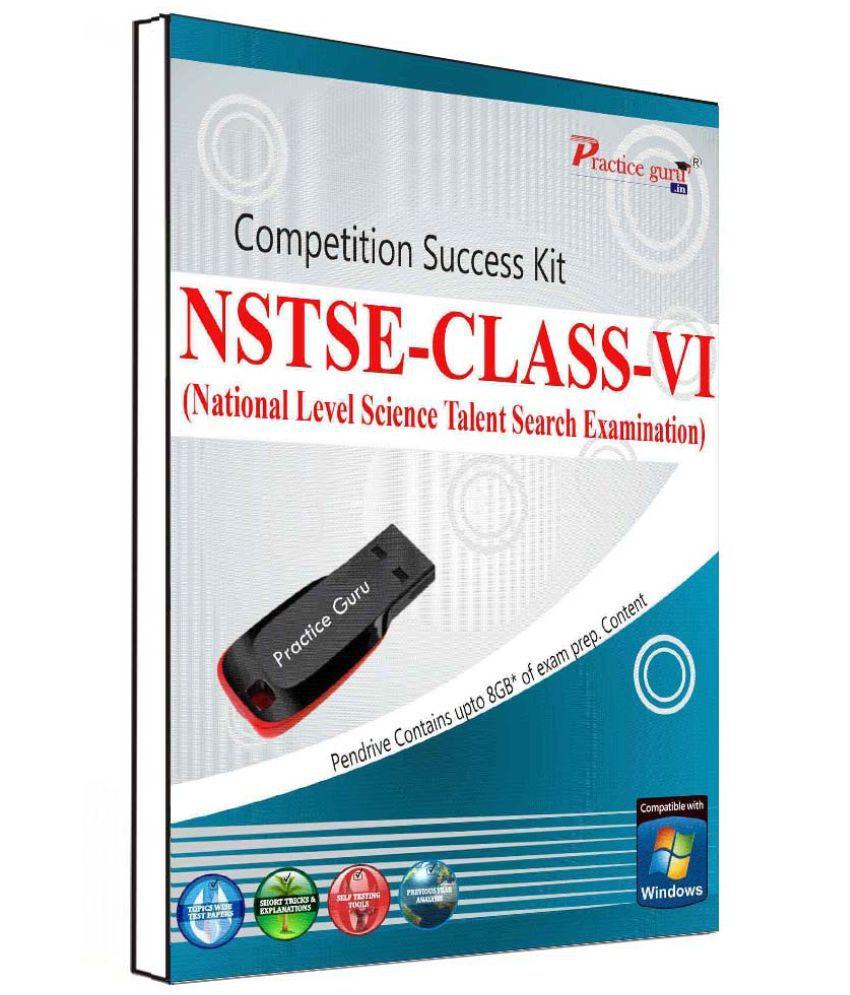 Practice Guru 150 Test 10 Mock Test,10 Previous Year Paper  Class 6 NSTSE  (PEN Drive) Pen Drive