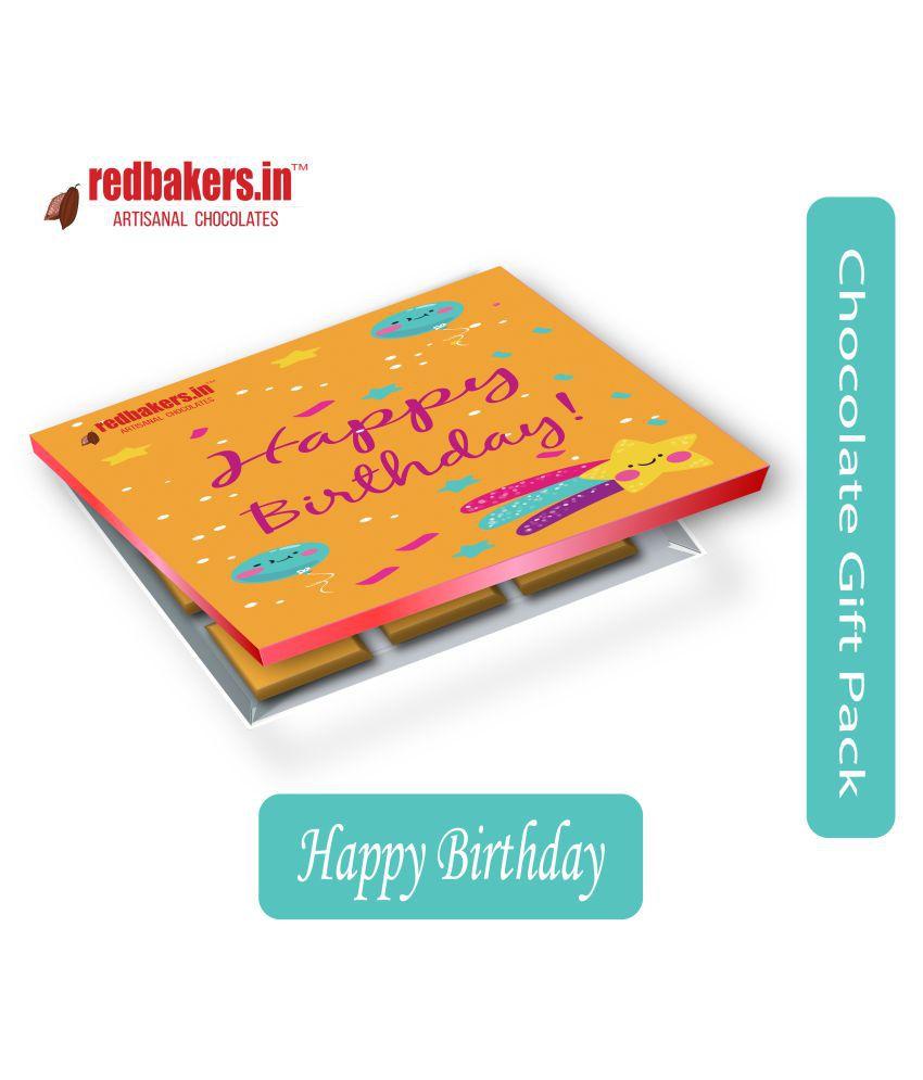 redbakers.in Chocolate Box Happy Birthday BelgianGiftpack of 12 150 gm