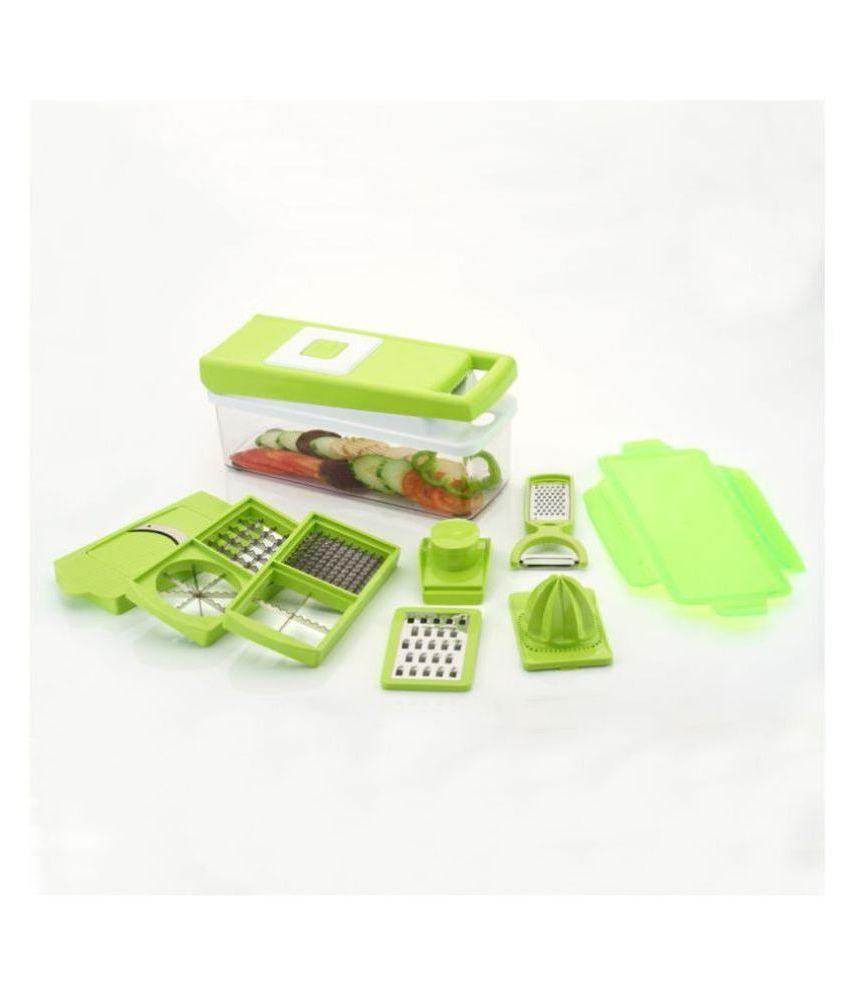 Arni Vegetable And Fruit Dicing Slicer Chipser with 12 Blades + 1 Free Peeler Inside, Vegetable Chopper, Vegetable Green Dicing And Slicer ( 15 In 1 )