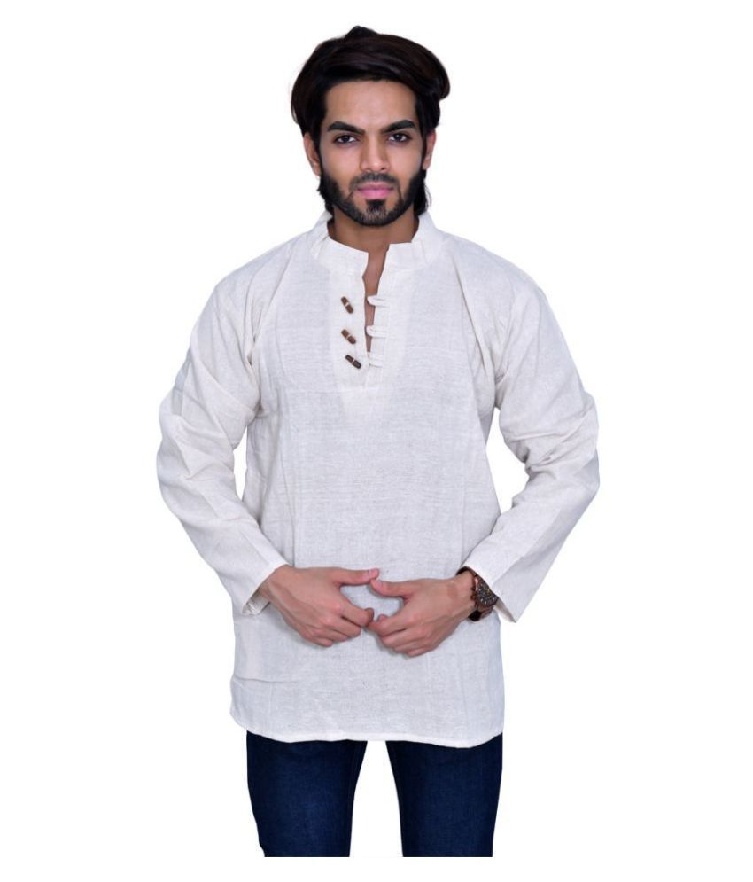 Balaji Garments White Khadi Kurta
