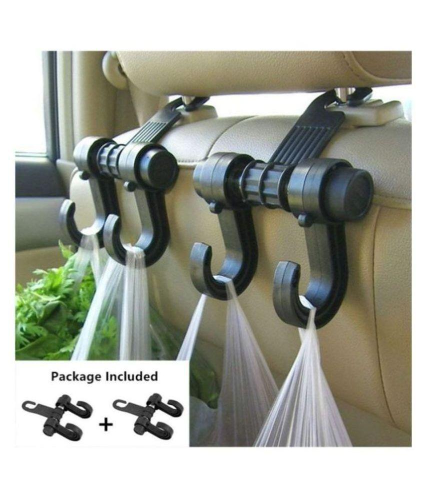 KolorFish Hook Type Holder for Front Seat Side Black