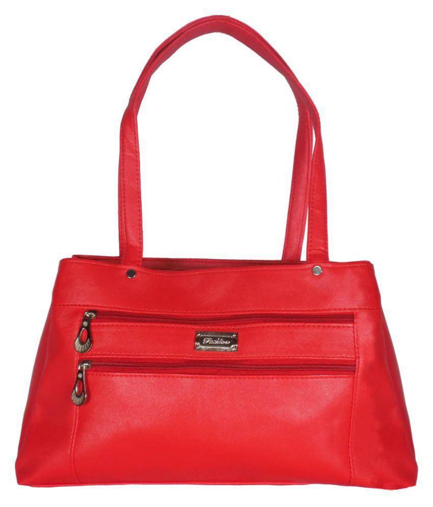 Evermore Red P.U. Shoulder Bag
