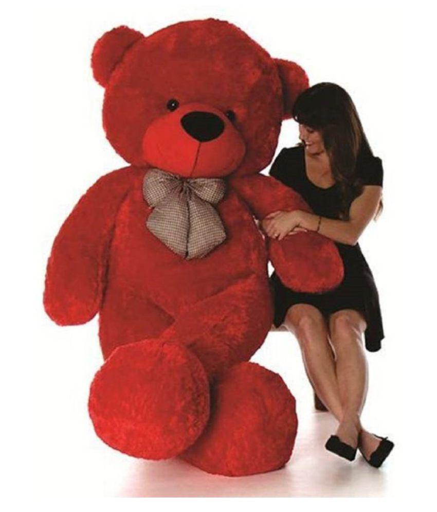 JSGM 3 Feet Teddy Bear Red Color