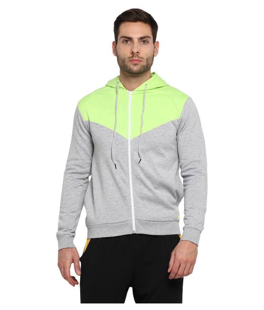 YUUKI Grey Polyester Fleece Sweatshirt