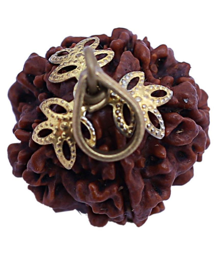 7 mukhi natural rudrakash bead with golden/silver cap,silk dori.For good luck,financial strong,health& wealth also.