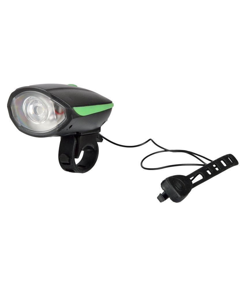 DarkHorse Bicycle LED 3 Mode Front Light & Horn Battery Operated, Green