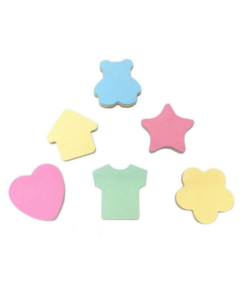 R H lifestyle vibrant colors different shape set of 6, 100 Sheets per Sticky Notes
