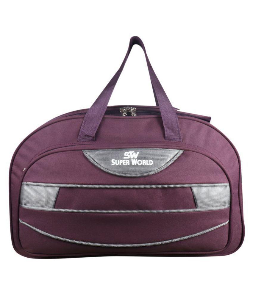 SW Super World Maroon M Duffle Bag