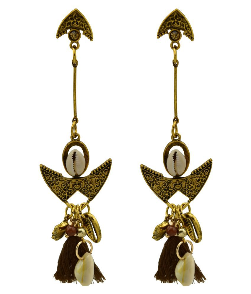 High Trendz Stylish Thread Tassel Fancy Party Wear Long Earrings for Women & Girls