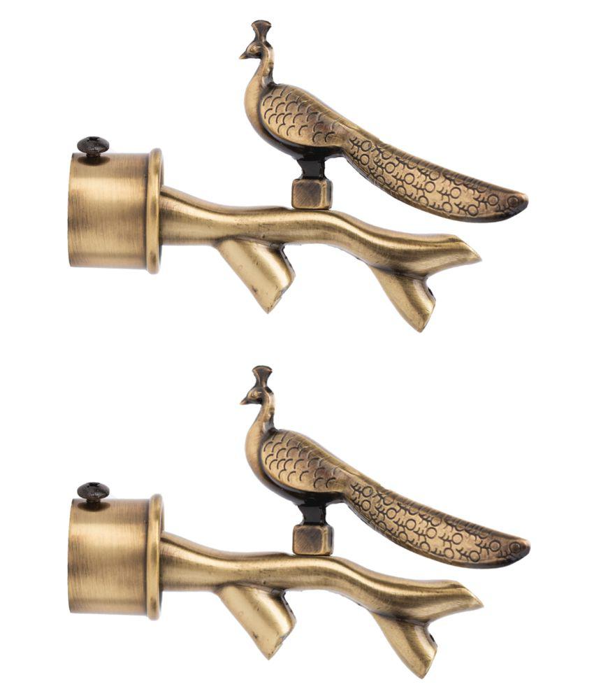 CasaGold Set of 2 Brass Single Rod Bracket