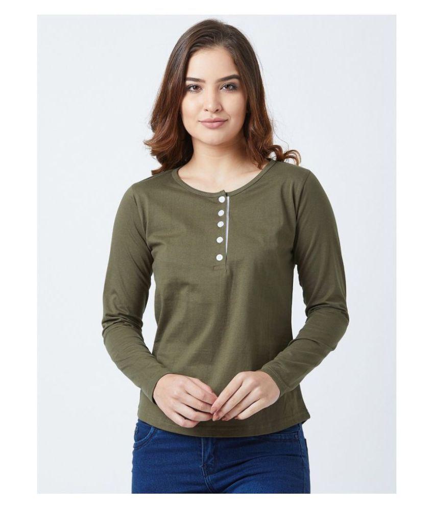 Bombay Clothing Company Cotton Khaki T-Shirts
