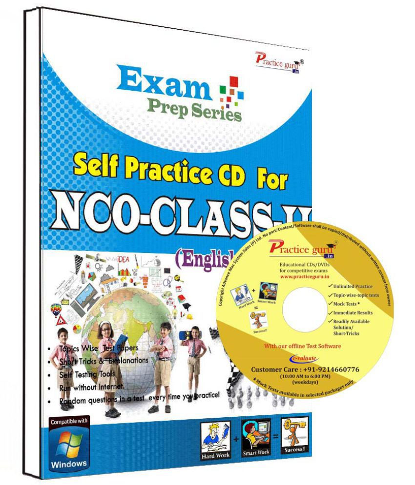 Practice Guru 14 Test ,10 Previous Year Paper  for 2 Class NCO Exam  CD