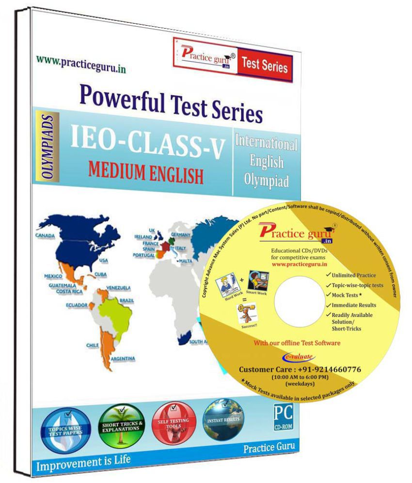 Practice Guru 20 Test 2 Mock Test,10 Previous Year Paper  for 5 Class IEO Exam  CD