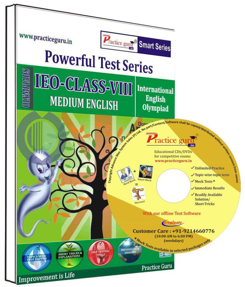 Practice Guru 54 Test 5 Mock Test,10 Previous Year Paper  for 8 Class IEO Exam CD