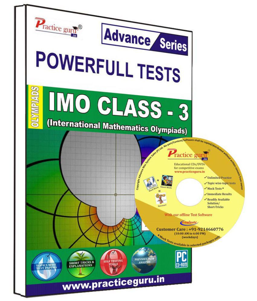 Practice Guru 60 Test 10 Mock Test,10 Previous Year Paper  for 3 Class IMO Exam  CD
