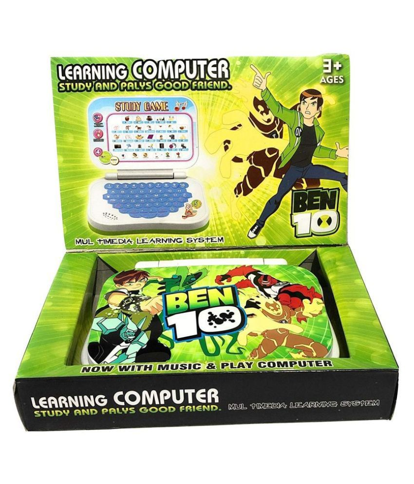 Aurawings.in Cartoon Print Study Game Mini English Leaning Laptop (Multi Color)