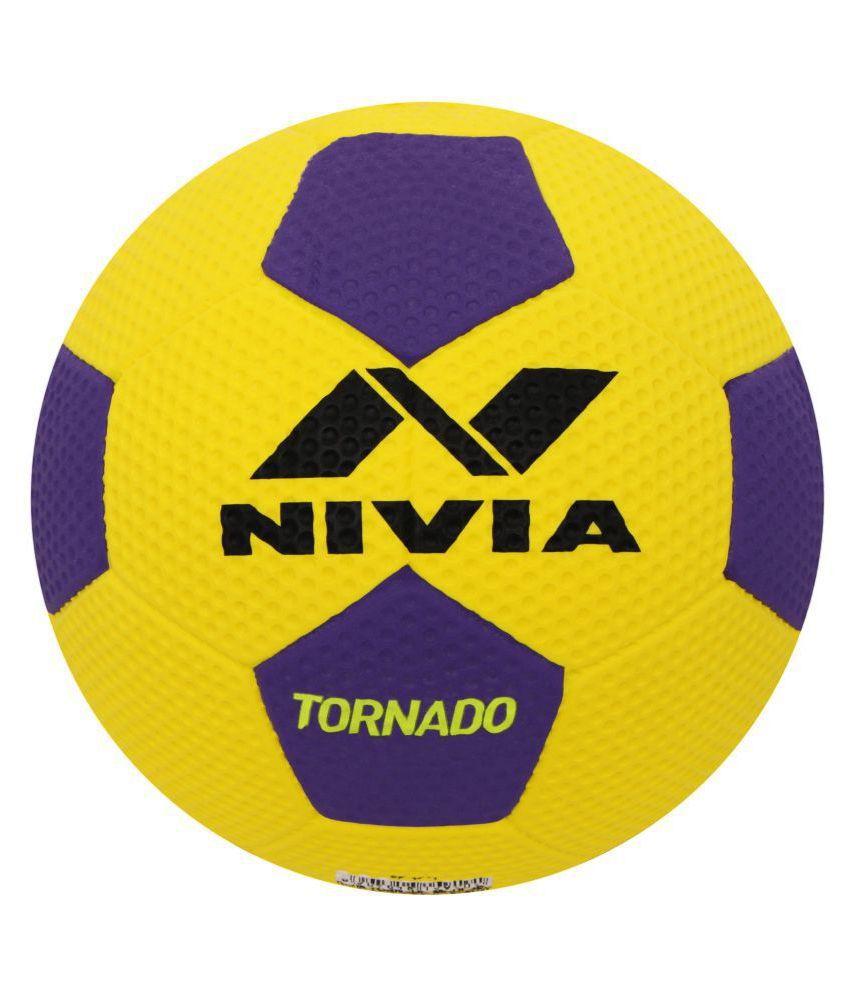 Nivia Tornado Yellow Football Size  5