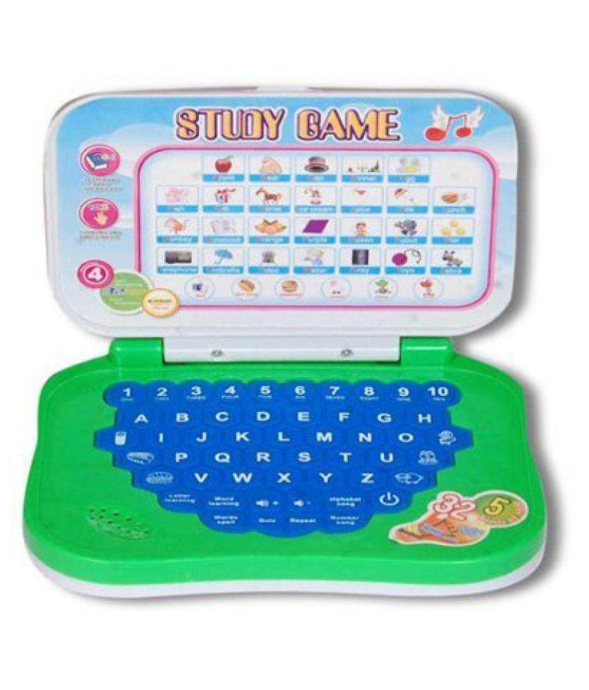 fastdeal Green Plastic Kids Laptops for kids