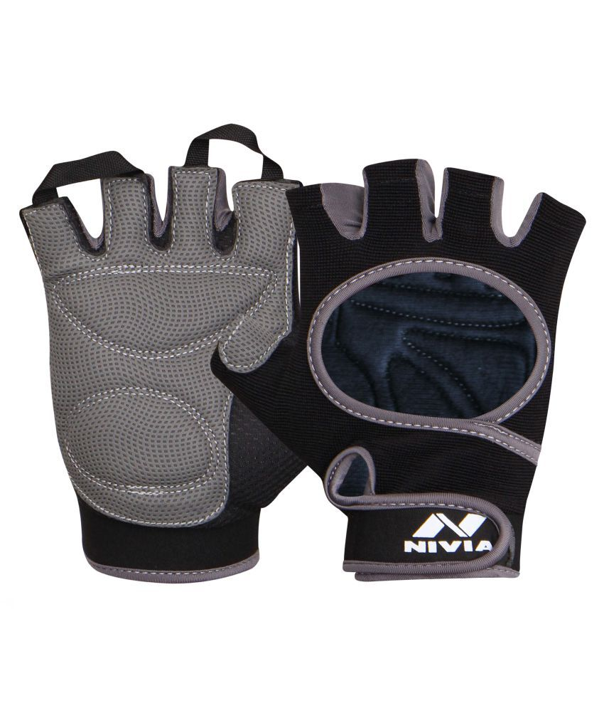 Nivia Black Gym Gloves
