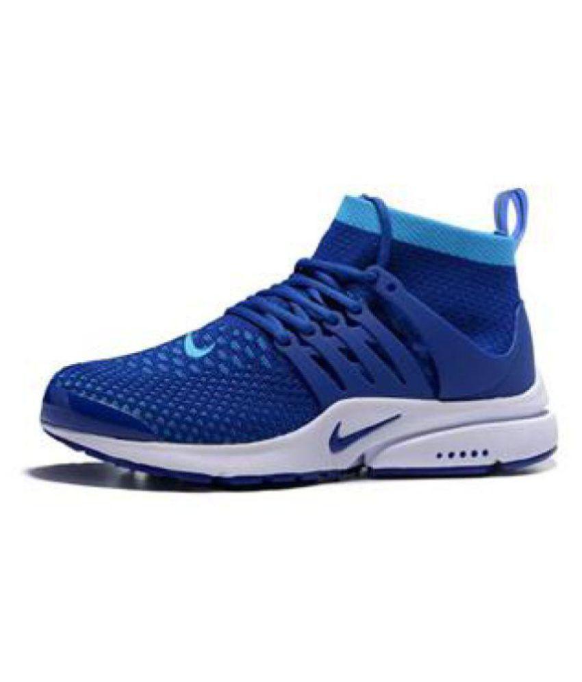 nike presto ultraflyknit blue training shoes