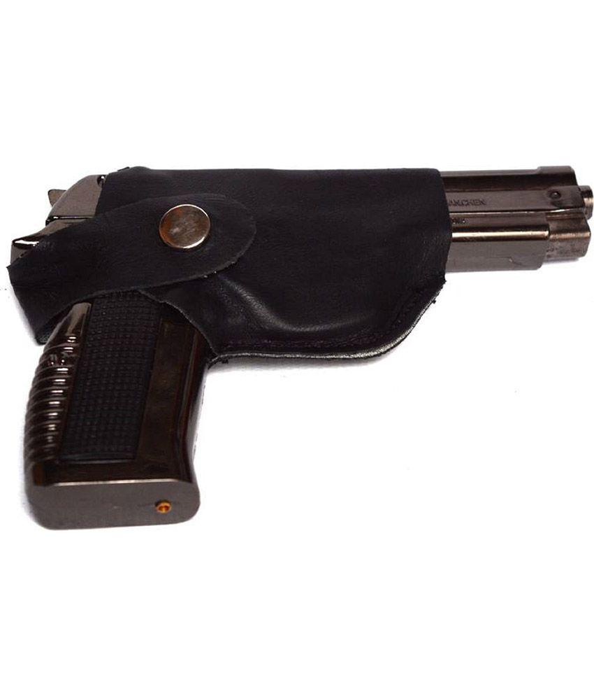 Shoptico Gun shaped Cigarette Lighter Silver