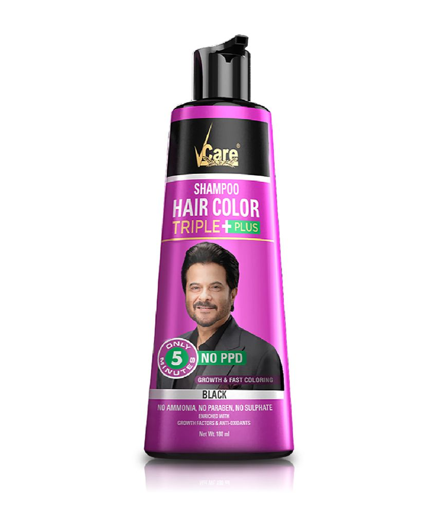Vcare Shampoo Hair Color Temporary Hair Color Black 180 Ml Pack Of 2 Buy Vcare Shampoo Hair Color Temporary Hair Color Black 180 Ml Pack Of 2 At Best Prices In India Snapdeal