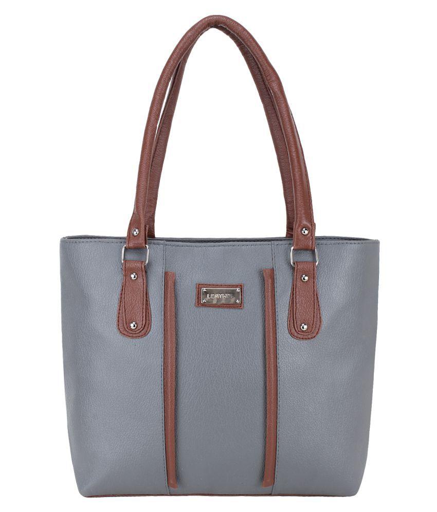 GD fashion Gray P.U. Shoulder Bag