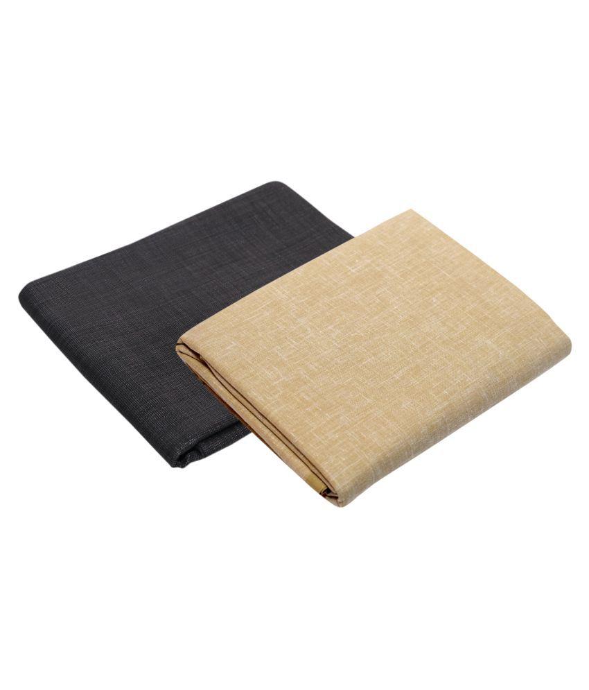 KUNDAN SULZ GWALIOR Multi Cotton Blend Unstitched Shirts & Trousers 1 Pant & 1 Shirt Pc For Men's