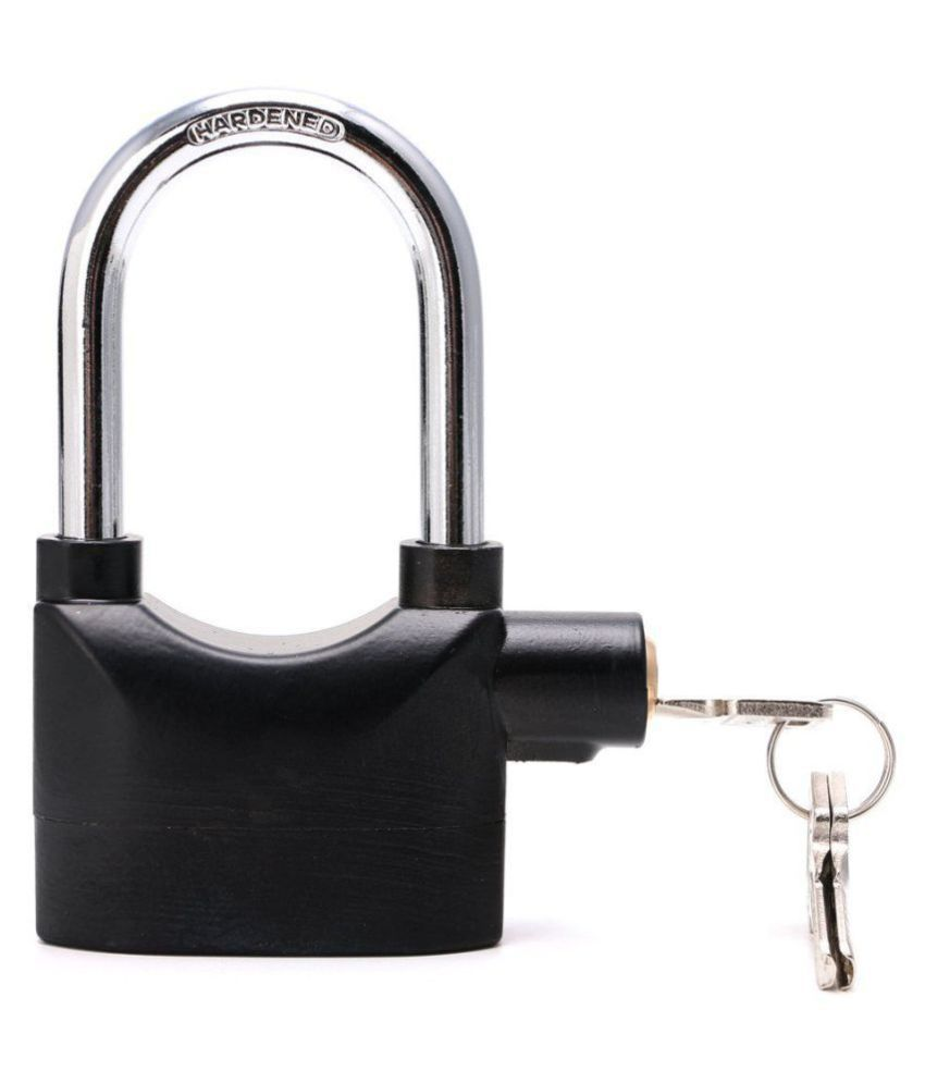 hi-lee Anti Theft Burglar Pad Lock Alarm Security Siren Home