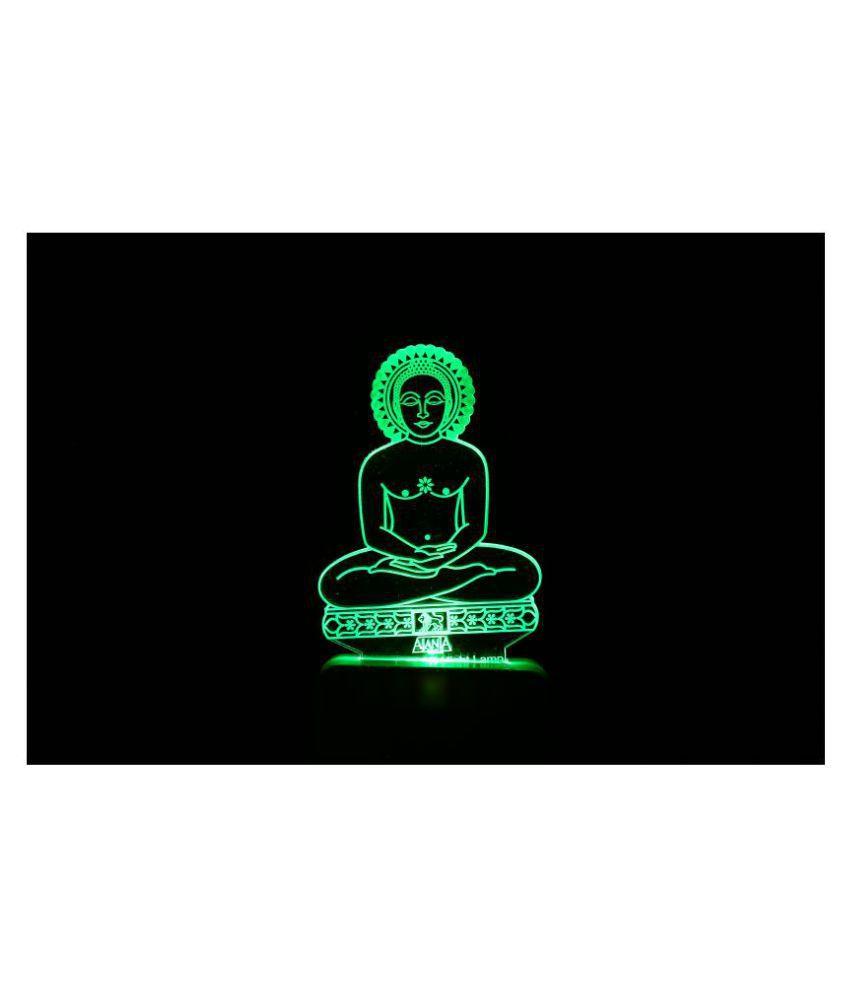 SUPER AJANTA 2045 Lord Buddha Gautam Buddh 3D Night Lamp Multi - Pack of 1