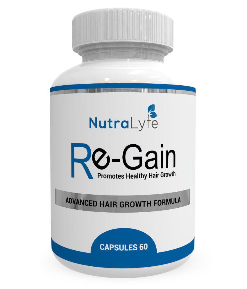 Nutralyfe Hair Regain - All Natural Hair Loss Supplement For Healthy Hair - 60 Veg Capsules