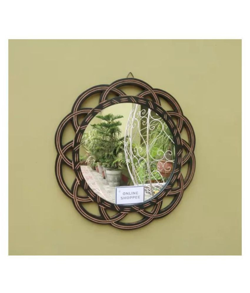 Onlineshoppee Mirror Wall Mirror Black ( 40 x 1 cms ) - Pack of 1