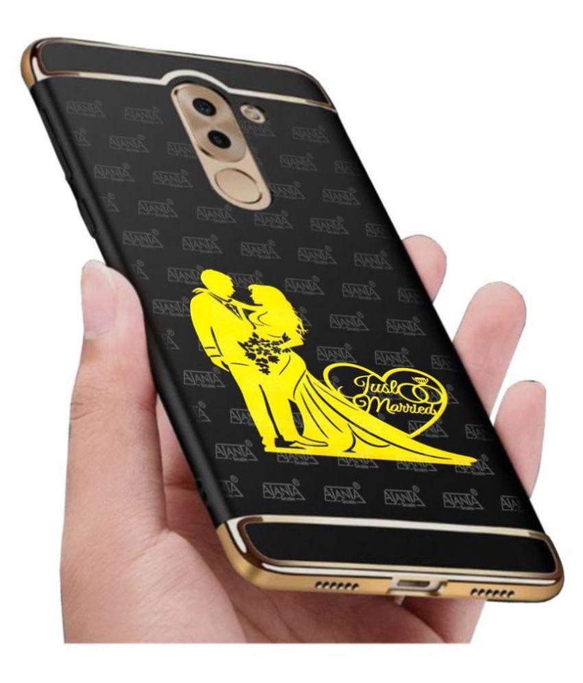 Super Ajanta Romantic Love Couple 4086 24K Gold Plating 3D Mobile Sticker
