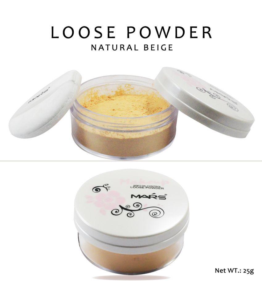 Mars Soft Oil Control-9245-2-01  Loose Powder & Free Adbeni Kajal Light 25 g