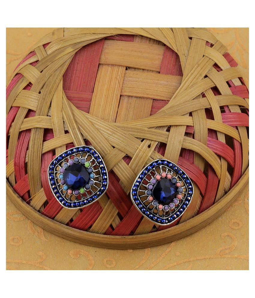 SILVER SHINE Stylish Charm Party Wear Diamond Stud Earring For Women Girl