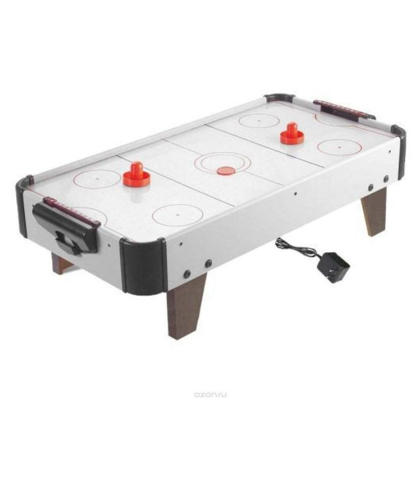 Wooden Air Hockey Table With Power Adaptor (80.5X42X23.5cm)