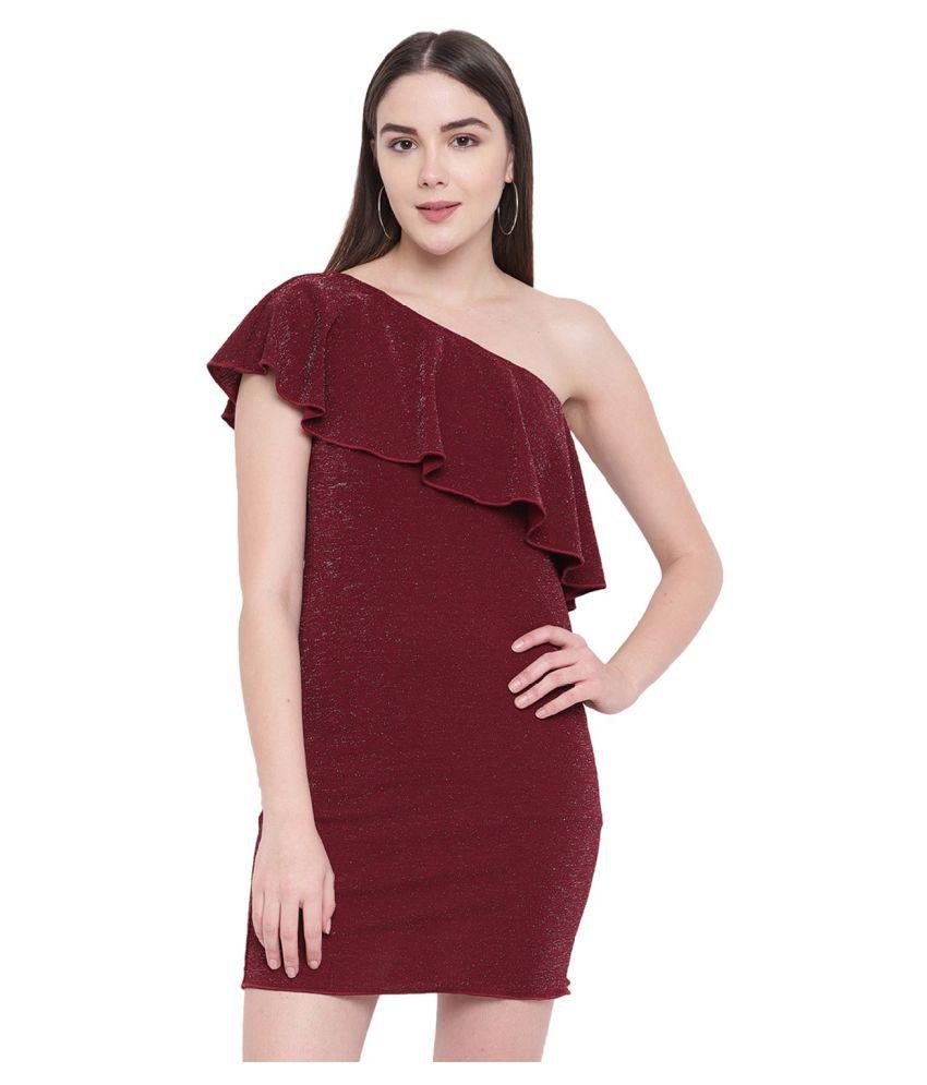 RIVI Cotton Purple Asymmetric dress