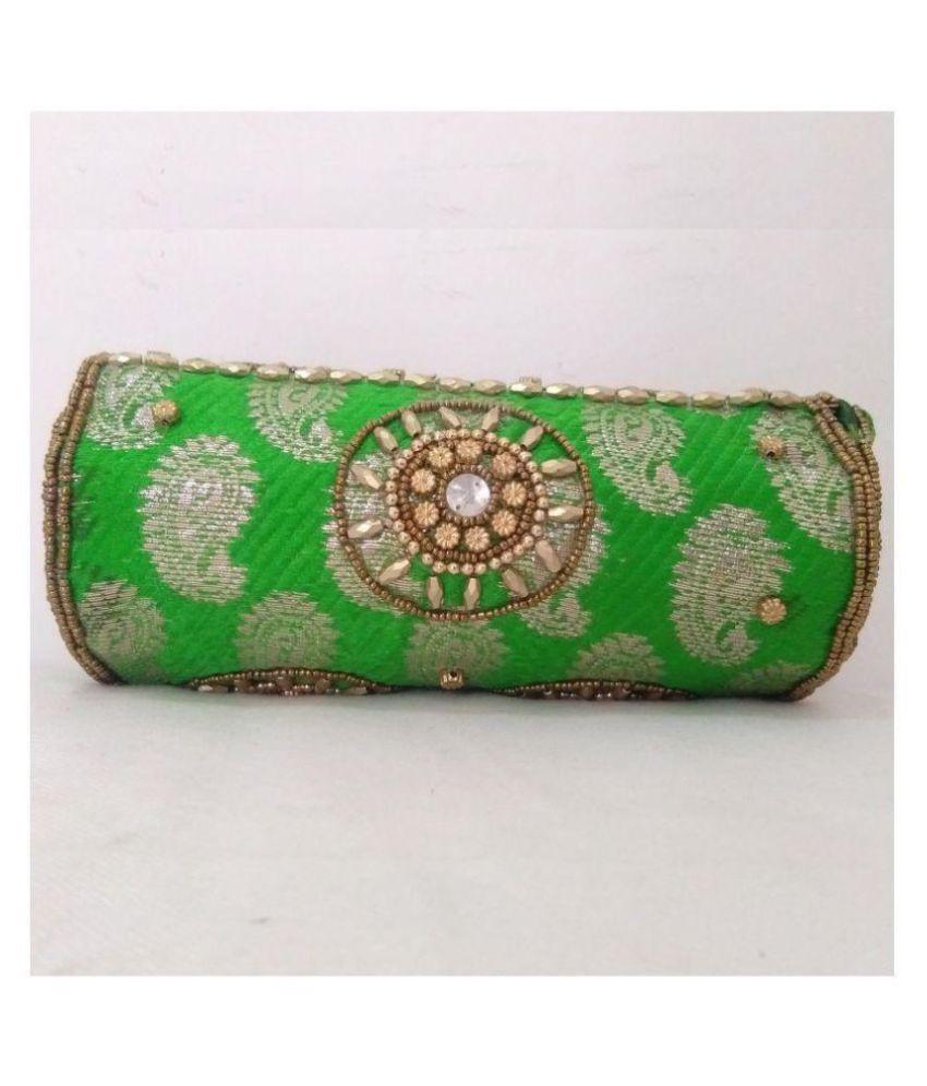 Unbranded Green Satin Handheld