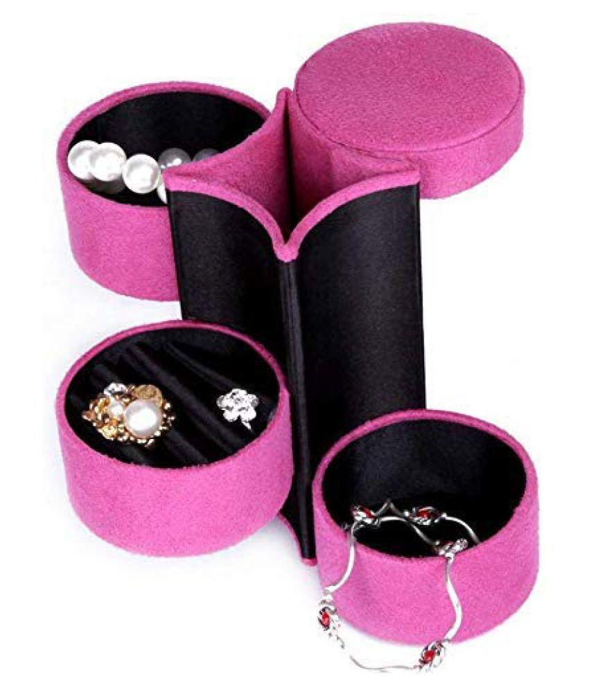 Three Layers Round Jewelry Cosmetic Box
