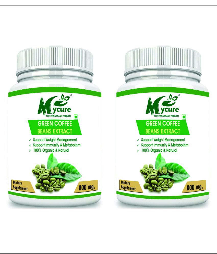 my cure PREMIUM QUALITY GREEN COFFEE 800 mg Pack of 2