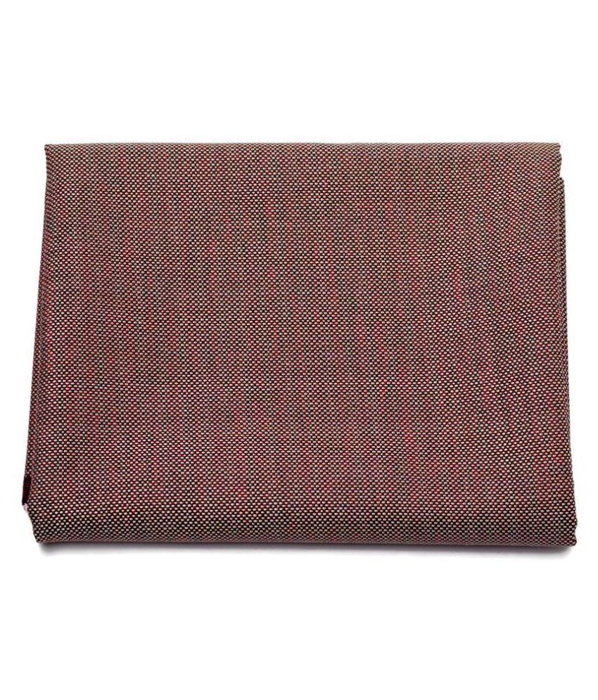 M Maharaja Maroon Cotton Blend Unstitched Blazer Piece