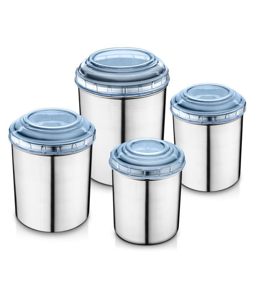 Jensons Steel Food Container Set of 4 5200 mL