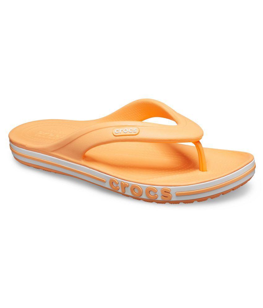 Crocs Orange Slippers
