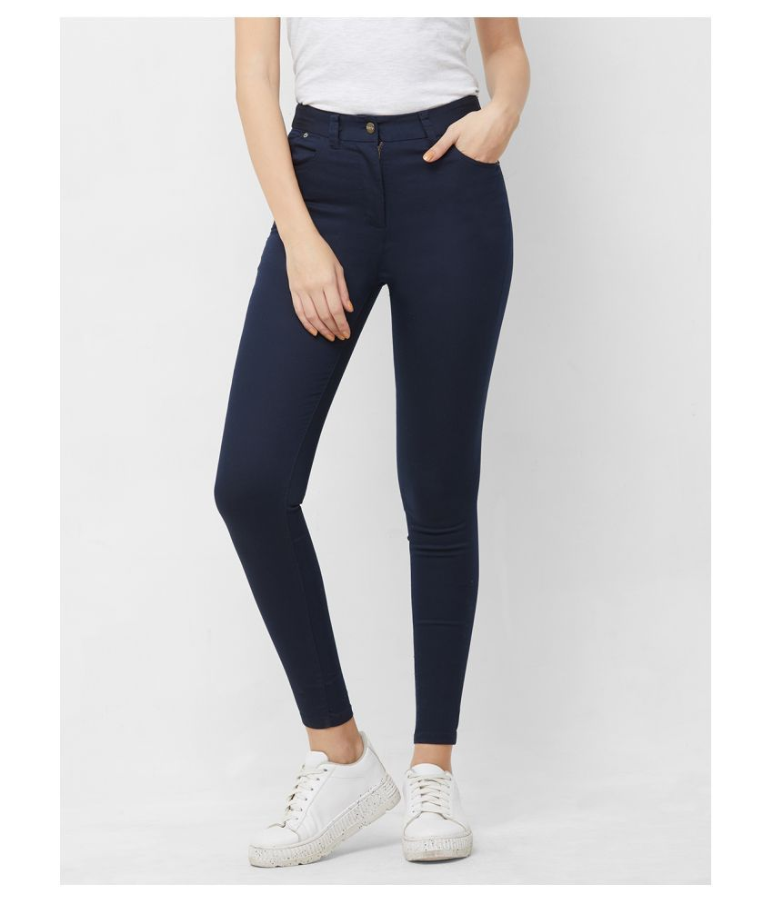 109 F Cotton Jeggings - Navy
